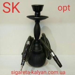 Кальян SUPER HOOKAH чёрный матовый на два шланга 2768 образец качества за небольшие деньги