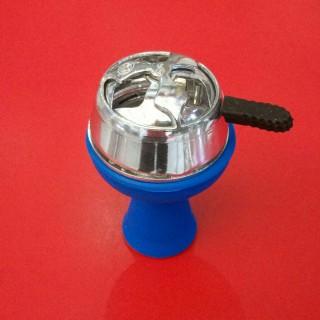 Силиконовая чаша для кальяна Вулкан синяя недорого