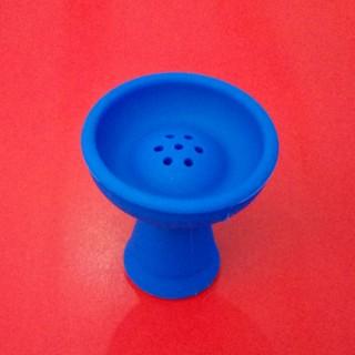 Силиконовая чаша для кальяна Вулкан синяя
