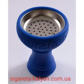 Силиконовая чаша для кальяна с сеткой синяя 1026