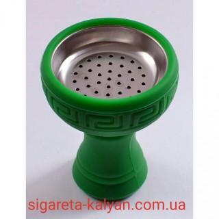 Силиконовая чаша для кальяна с сеткой зелёная купить недорого Amy