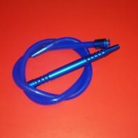 Силиконовый шланг для кальяна с охладителем, синий, 90611