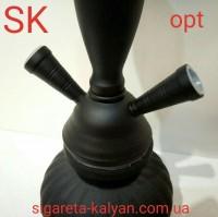 Кальян SUPER HOOKAH чёрный матовый на два шланга 2768 идеальный вариант для подарка