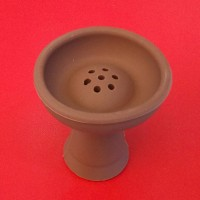 Силиконовая чаша для кальяна Вулкан коричневая, 1012