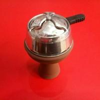 Силиконовая чаша для кальяна Вулкан, коричневая 2959 доставка в любой город Украины