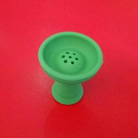 Силиконовая чаша для кальяна Вулкан Зелёная