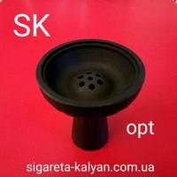 Силиконовая чаша для кальяна Торнадо чёрная 4322