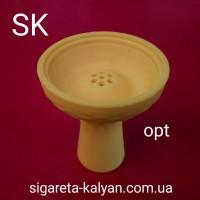 Силиконовая чаша для кальяна Торнадо жёлтая 4321