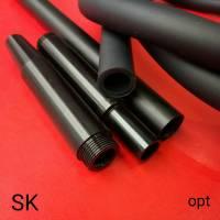 Силиконовая трубка шланг для кальяна Garden Soft Tuch Black  TDK  3787 огромный ассортимент силиконовых трубок шлангов чаш для кальяна