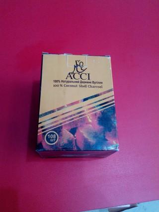 Кокосовый уголь для кальяна ACCI 108шт