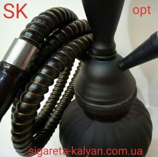 Кальян SUPER HOOKAH чёрный матовый на два шланга 2768 доставка во все регионы Украины