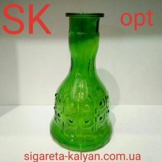Колба для большого кальяна Стела зелёная 5611