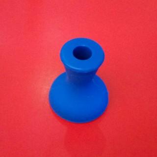 Силиконовая чаша для кальяна Вулкан синяя оптом