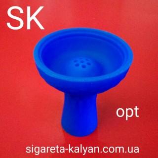 Силиконовая чаша для кальяна Торнадо синяя 4320