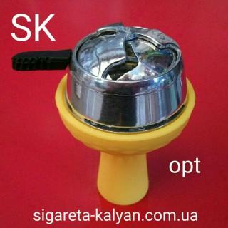 Силиконовая чаша для кальяна Торнадо жёлтая 4321 более 200 наименований аксессуары для кальяна