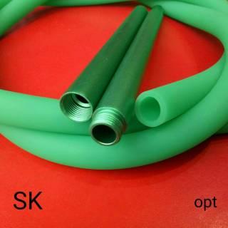 Силиконовая трубка шланг для кальяна Garden Soft Tuch Green  TDK  3788 идеально подходит для кальяна высотой 50 см и выше