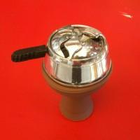 Силиконовая чаша для кальяна Вулкан коричневая для кальянных заведений