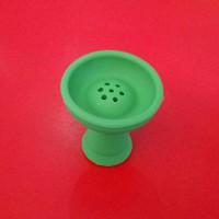 Силиконовая чаша для кальяна Вулкан Зелёная, 1011