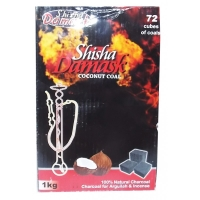 Кокосовый уголь для кальяна Shisha Damask 72шт, 1 кг, 315
